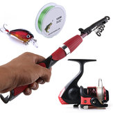 ZANLURE Angelrolle Combo 100cm Angelschnur Angelköder Outdoor Fishing Satz Set