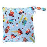 Многоразовые Водонепроницаемы влажных сухих детских подгузников Сумки Портативные детские подгузники для пеленания с двумя карманами