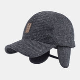 Men Winter Woolen Warm Cap Earmuffs Baseball Cap Hidden