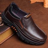 Hombres Impermeable Zapatos de cuero genuino de vaca