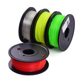 TWO TREES® 4Pcs 200g/Spool 1.75mm Red+Yellow+Green+Transparent Color PLA Filament Kit for 3D Printing