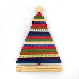بدوره مخطط شجرة عيد الميلاد الخشب الحلي الهدايا الإبداعية الديكور اللعب