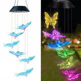 Solar LED Hanging Light Butterfly Wind Chimes Home Garden Outdoor Lamp Decorations