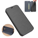 For OnePlus 7 Case Bakeey Flip with Stand Card Slot Full Body Brushed Leather Shockproof Soft Protective Case