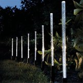 8 PCS Solar Luces de encendido Bubble White luz LED al aire libre Lawn Garden Lámpara Solar Garden Light
