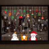Miico XH9294 Adesivo de Natal Decoração de Casa Adesivo Janela e Adesivo de Parede Loja Adesivos Decorativos