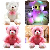 الفتيات الطفل لطيف Soft محشوة أفخم دمية دب لعبة مع LED ضوء يصل للأطفال هدية عيد الميلاد