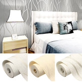 10M 3D Non-woven Wave Stripe Embossed paper Rolls Bedroom Living Room Wall Sticker