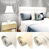 Adesivo da parete per soggiorno in camera da letto con rotolo di carta goffrata a strisce non tessute 3D 10M