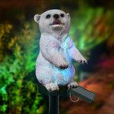 LED Solar Light Polar Bear Tuinlicht Gazonlicht Outdoor Waterdichte Lamp RGB