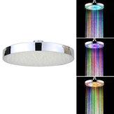 360 درجة قابل للتعديل 8 بوصة LED جولة كروم المطر حمام دش رئيس الأمطار 7 اللون تغيير حمام