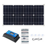 80W 18V Monocrystaline EVA+PET Solar Panel Dual 12V/5V DC USB Charger with 10A12V/24V PWM Controller Kit For Car RV Boat