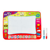 80x60cm Baby Kid Doodle Mat Magic Water Drawing Painting Writing Mat Pad Board Educational Toys Gift with 2 Pens