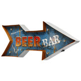 Metalen pijl LED licht teken Poster Neon Bar club Game Pub Lamp Wall Decor