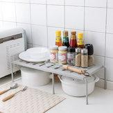 Prateleira de organizador de bancada de cozinha ajustável de rack de armazenamento de cozinha de camada única