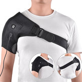Electric Heat Therapy Adjustable Back Shoulders Support Belt
