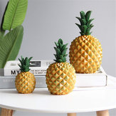 Pineapple Figurine Resin Coin Piggy Bank Money Box Ornament Home Room Decorations