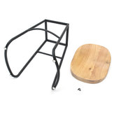 60cm Metal Wooden Bar Stool Retro Barstool Industrial Dining Office Chair Seat
