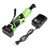 42V 100N.m 3/8 '' LED Illuminazione a batteria elettrica strappo 90 ° ad angolo retto strappo + 1/2 Batteria