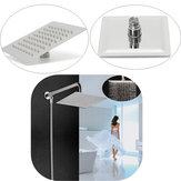 G1/2 Rain Shower Head Square Chrome Wall / Ceiling Mounted Bathroom Top Sprayer Faucet Stainless Steel