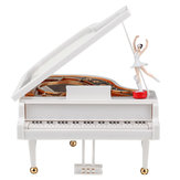 Vintage Ballerina Girl Dancing On The Piano Music Box Christmas Gift Valentine's Day Gift Home Decoration