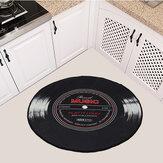 60-120 cm Retro Müzik CD Kayıt Baskılı Soft Yuvarlak Paspas Oda Alanı Halı Kilim