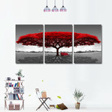 Miico Hand Painted Three Combination Decorative Paintings Redwood tree Wall Art For Home Decoration