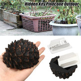 Pinecone Hidden Hide Key Box Holder Secret Stash Safe Outdoor Garden Safe Box