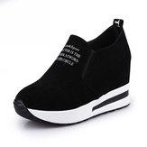 TENGOO Ldy-A Plataforma de Lazer para Mulheres Escondida Salto Cunha Deslizar em Sapatilhas Sapatos Calçados Esportivos