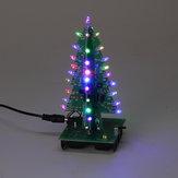 Zusammengebauter Weihnachtsbaum RGB LED Farblicht Elektronische 3D Dekoration Baum Kinder Geschenk Gewöhnliche Version