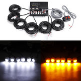 As lâmpadas do carro 6LED escondem o aviso de perigo de emergência Flash Strobe Light Kit 12V 120W