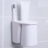 Bathroom Toothpaste Toothbrush Holder Storage Shelf Rack Set Magnetic Cups