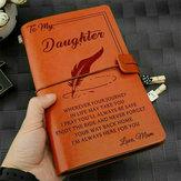 Para Minha Filha Onde Sempre Amar a Mãe Gravado Couro Jornal Diário Notebook Personalizado Mensagem Citações Presente Aniversário Aniversário
