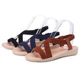 Damskie płaskie sandały z odkrytymi palcami z paskiem krzyżowym