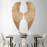 38*100cm Metal Angel Wing Hanging Wall Sticker Decor Rustic Distressed Vintage Gold Set