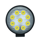 27W 9 LED Work Spot Light Round Lamp SUV Car Truck Van Boat 4WD ATV UTV