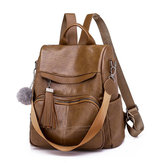 Women Girl Leather Back To School Backpack Travel Handbag Shoulder Bags Tote