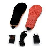 Palmilha de Sapatos Aquecidos Elétricos Recarregáveis 35-40 Código Cortável Sapatos de Aquecimento Almofadas Almofadas de Inverno Mais Quente