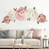 Peony Flower Removable Wall Sticker Art Decal Home Living Room Dormitorio Decoración