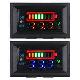 Power + Voltage Dual Display 3S Lítio Bateria Placa de detecção Suporte 12V Car Bateria Power Display com interruptor Bateria Indicador