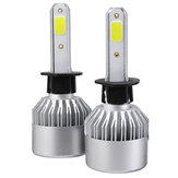 2Pcs Upgrated Super Bright S2 COB LED Ampoules de phares de voiture H1 H3 H4 H7 H8 H9 H11 H13880881 9004 9005 9006 9007 9012 288W 28800LM 6500K Blanc étanche