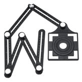 12 Fold Adjustable Multi Angle Ruler Measure Folding Position Tile Hole Locator
