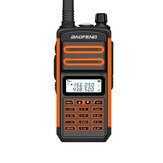 BAOFENG BF-S5plus 18W 9500mAh IP67 Impermeable UV Doble Banda Portátil bidireccional Radio Walkie Talkie 128 canales Sea Land LED Linterna al aire libre Intercomunicador para caminatas Interfono para civiles de conducción