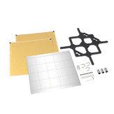 MK52 Steel Plate Platform + 2Pcs 253.8*241 PEI Sheet + Y Line Support Plate Kit for Prusa i3 MK3 3D Printer