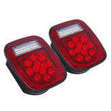 2PCS LED Tail Lights Brake Reverse Turn Signal Lamp For Jeep Wrangler TJ CJ 76-06