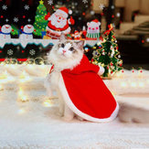 Christmas Pet Clothes Creative Pet Cloak Hooded Christmas Dog Cat Red Color Clothes Costume Santa Claus New Year Clothing for Pets