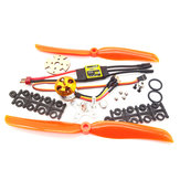 XXD A2212 2212 1400KV KV1400 Brushless Motor + 30A ESC + 8060 Prop Blade Propeller RC Power Combo System for RC Drone Airplane Support 2s-4s