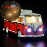 DIY LED ضوء ضوءing Kit فقط من أجل طراز LEGO 10220 Advanced VW T1 Camper Van