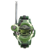 2Pcs 7 In 1 Kids Children Toys Walkie Talkie Girls Boys Watches Interphone Outdoor Games Green Lights Mic