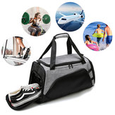 22in Large سعة Sports Gym Bag w / Shoes Compartment Travel Handbag حقيبة الكتف سليمالجسم Yoga Bag